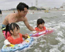 пляж на Фукусиме