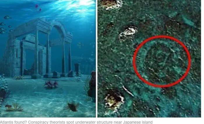 под водой японии
