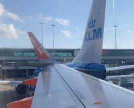 самолет столкнулся