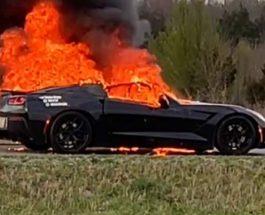 Chevrolet Corvette,пожар