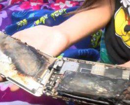 iPhone 6 загорелся