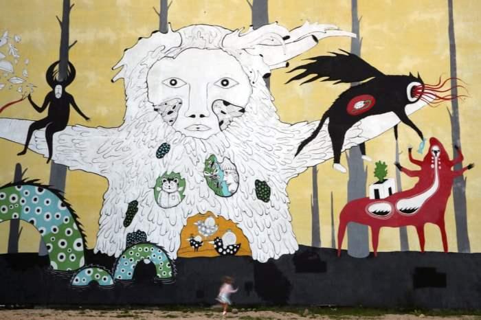 Фреска в художественной галерее Цеха