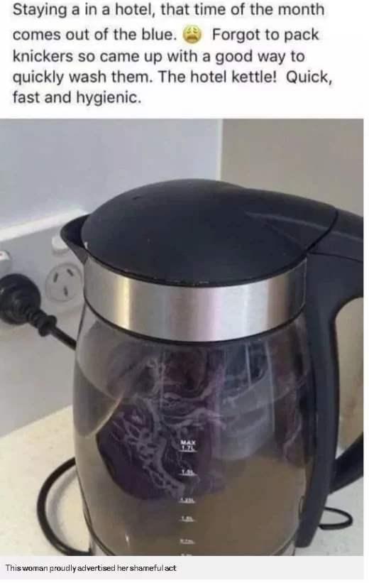 грязные трусы в чайнике