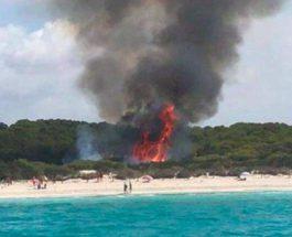 пожар майорка