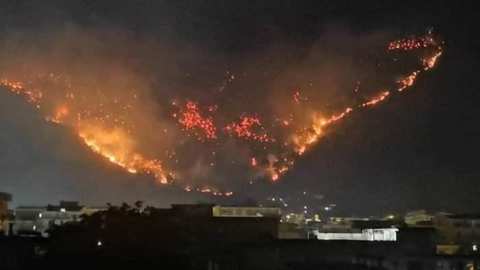Италия пожар