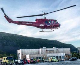 Норвегия вертолет