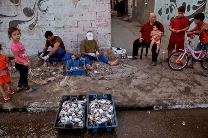 Палестинские рыбаки