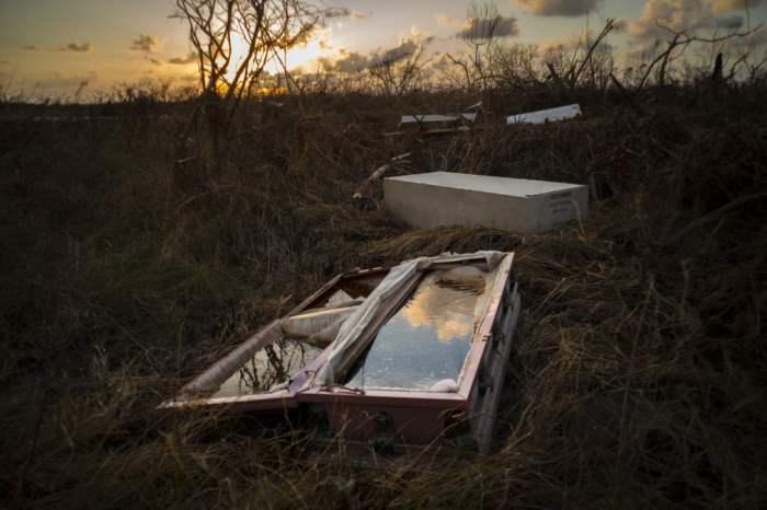 После урагана Дориан.