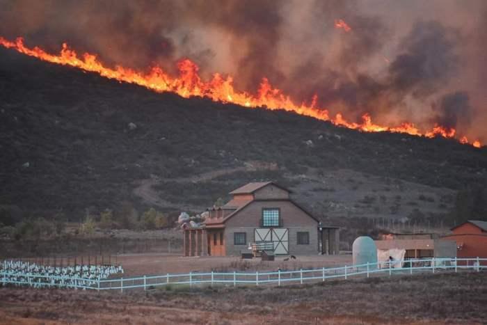 Пожар в Валье-де-Гуадалупе