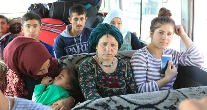 Сирийские перемещенные семьи