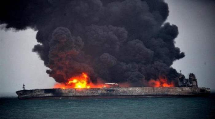взрыв танкера
