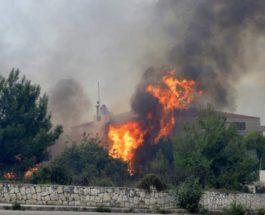 пожары сирия