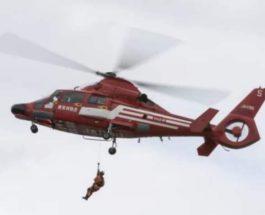 упала с вертолета