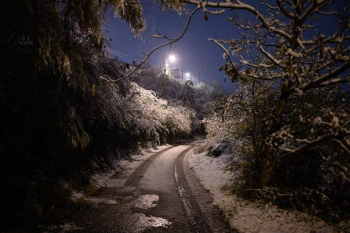 Заснеженная дорога в Живоре