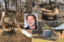 Особняк Рассела Кроу пострадал от лесных пожаров