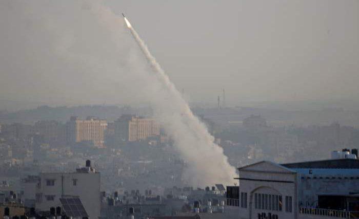 Ракета запускается из Газы