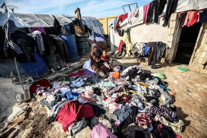 Сирийка в лагере беженцев