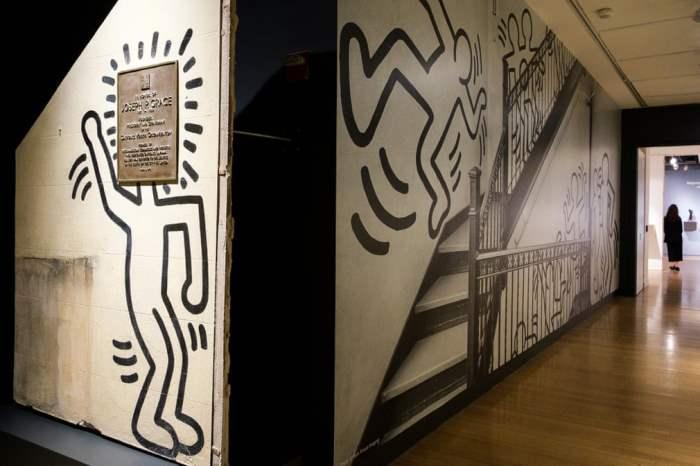 Фрагмент настенной росписи художника Кита Харинга