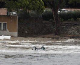 Франция шторм Амели