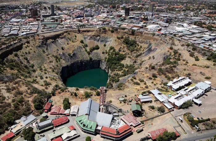 бывший алмазный рудник в Кимберл