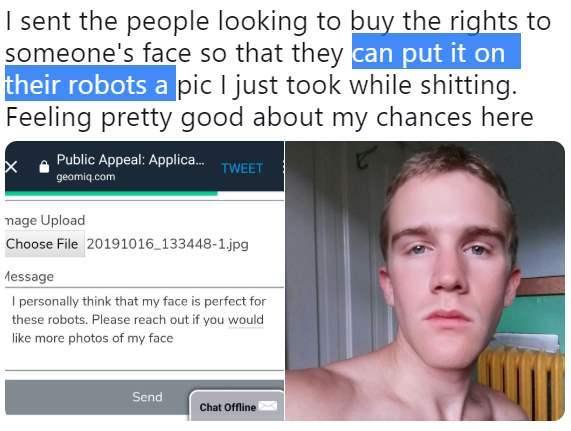 роботы лицо продать