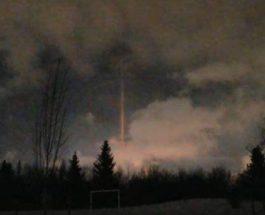 световой столб в канаде