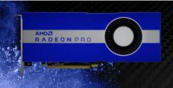 AMD представила 7-нм профессиональную видеокарту Radeon Pro W5700