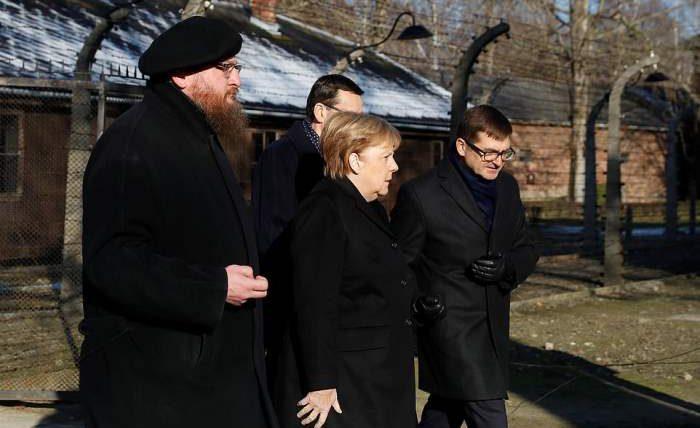 Ангела Меркель Освенцим
