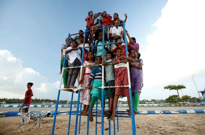 Жители детского дома в Тамилнаде