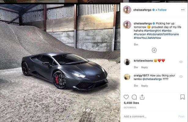 Модель заработала на Lamborghini