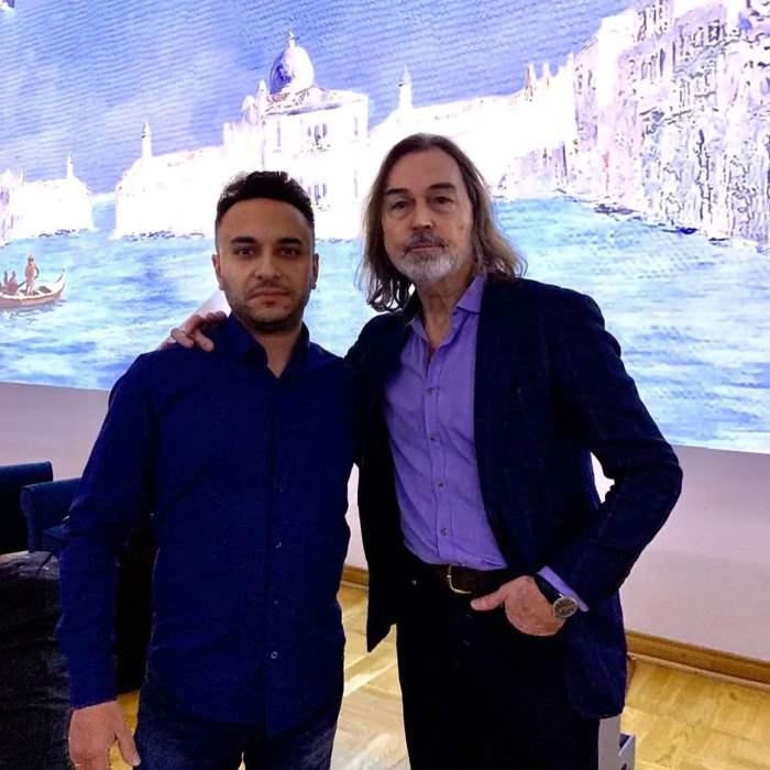 Никас Сафронов подарил адвокату Алексею Демидову картину