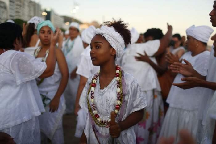 Религиозный праздник на пляже Копакабана