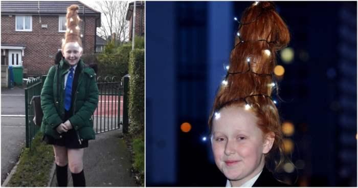 елка на голове