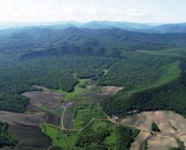 на северо-востоке Китая кратер