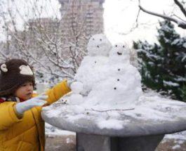снег пекин