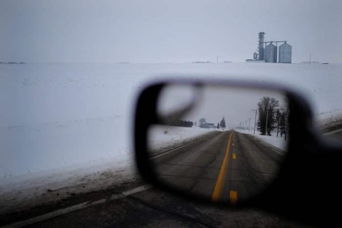 Заснеженные сельхозугодья в штате Айова