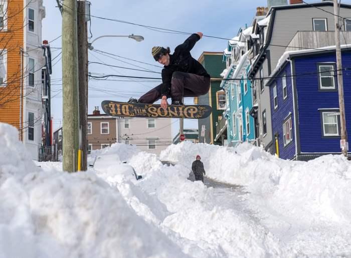 Сноубордист в Канаде