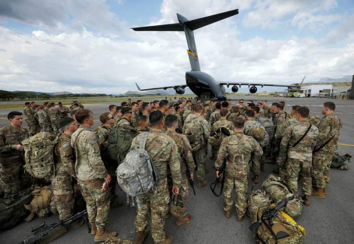 Солдаты 82-й воздушно-десантной дивизии армии США