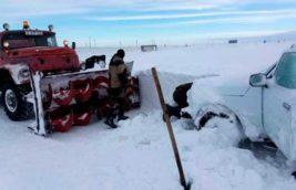 казахстан снег