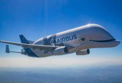 Состоялся первый полет самого большого грузового самолета в мире Airbus Beluga XL