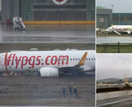 Pegasus Airlines Skid-off Runway at Istanbul while Landing