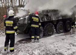 """В Польше загорелся бронетранспортер армии США """"Страйкер"""""""