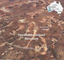 Самый старый из известных ударных кратеров находится в Австралии и назван Яррабубба