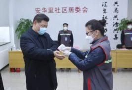 Китай,президент,в маске,Си Цзиньпин