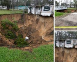 Огромная воронка поглотила дом во Флориде