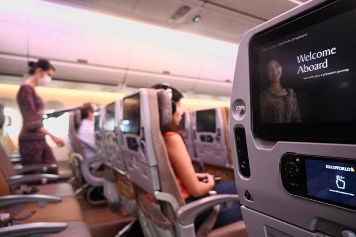 Ряд свободных мест на рейсе Singapore Airlines