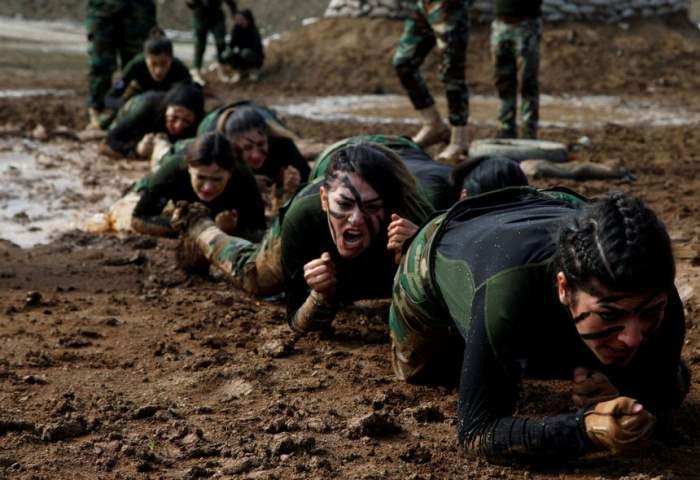 Члены курдского спецназа