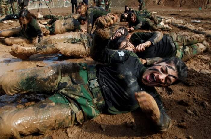 Члены спецназа курдов