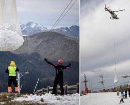 вертолеты снег