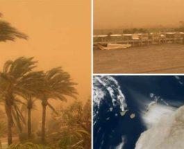 канарские острова песчаная буря